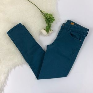 Anthropologie Pilcro Teal Skinny Jeans
